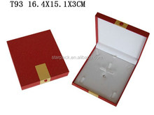Beautiful Jewelry Packaging Plastic PU Leather Ring Earring Box T93