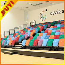 BLM-6211 Iron Wood Shell Colored Hot Sale Waiting Room Tip Soccer Plastic Folding Chair Green Plastic Fiber Chair