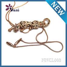 Plomo níquel libre nuevo diseño moda cristal animal colgantes