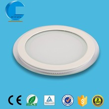 7W round glass frame special design flat led panel ceiling light