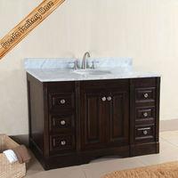 hand carved antique solid oak wood bathroom vanity