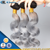 factory price hot selling top quality best 7a virgin brazilian body wave grey human hair weaving wholesale