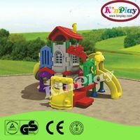 Children outdoor playground with plastic post