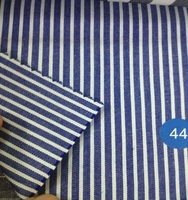Shirting fabric in polyester cotton blend plain stripe shirt woven from china supplier
