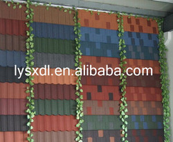 Construction building roofing material wood type stone coated red color Roof Tiles asphalt shingles