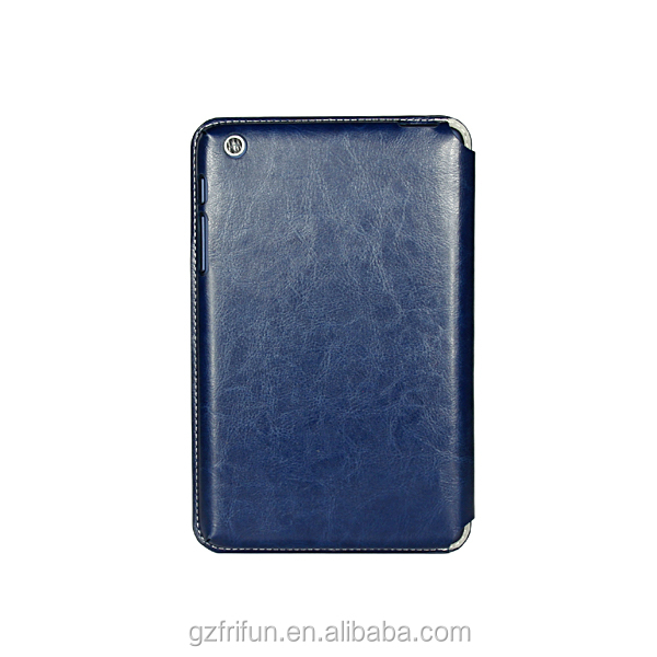 PU leather case cover for lenovo A5500 8 inch-Blue