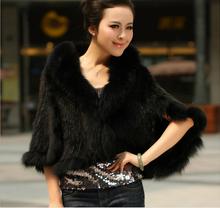 2015 popular short high quality kintted mink fur coat