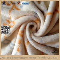 fleece blanket fabric 100% polyester fleece fabric