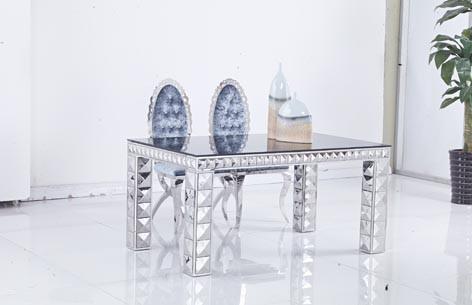 modernes en acier inoxydable à manger table en métal table basse