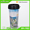 16oz PVC insert durable double wall coffee cup with lid RH129-16