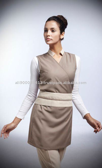 Spa uniforme rap colete servi os de fabricar roupas id for Spa uniform indonesia