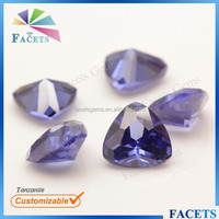FACETS GEMS Wholesale Lab Created Zircon Trillion Tanzanite