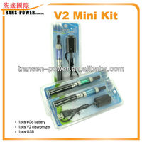 factory price healthy no leaking rechargeable electronic cigarette first choice v2 electronic cigarette