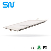 Hot design aluminum housing 18w 24w 36w 48w square recesse ultra thin led panel light with best price ceiling panel led