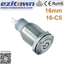 Cost effective 16mm micro push button tact switch
