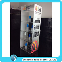 Logo printing clear acrylic e juice display case, e-liquid display stand, e-juice display holder