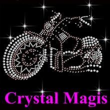 cool crystal motorcycle design rhinestone transfer motif for t shirt