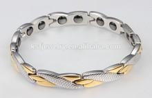 las mujeres con encanto pulsera de oro pulsera de titanio imán 2015 venta al por mayor