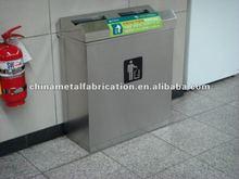 stainless steel or metal trash bin