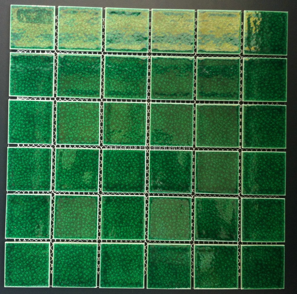 Ma Mp883 Super Green Ceramic Mosaic Tiles In Foshan New Materials Interior Design Buy Green