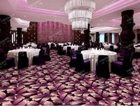 Wall to wall purple flower printed hotel carpet restuarant carpet ballroom carpet
