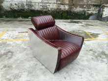 aviator function sofa in genuine leather