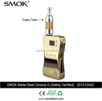 Smok Groove Ii Safety Verified Ecig Variable Voltage Mod Stainless Steel Shell 3800mah Battery 3v~6v Voltage 3w~15w Wattage