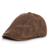 Wholesale factory custom 2015 new fashion suede velvet baby kids military beret hats