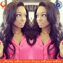 New arrival body wave glueless lace front wigs, human hair lace front wigs with bangs