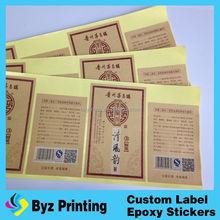 mineral water custom private own label branding, label sticker plastic cmyk printing