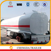 60ton loading fuel tank semi trailer small fuel tank trailer optional with 5mm end plate FUWA axle