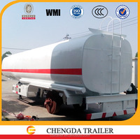 60ton loading fuel tank semi trailer small fuel tank trailer optional with 5mm end plate FUWA axle