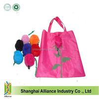 Rose Flowers Reusable Folding Shopping Bag Travel Grocery Bags Tote