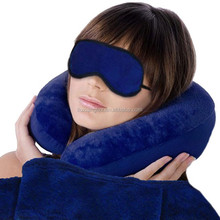Warm Comfortable and Quite Travel Set with Blanket throw,NeCk pillow,Eye Blinder