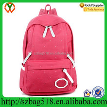 Wholesale canvas school bags of latest design kids backpack
