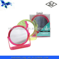 double side plastic magnifying make up mirror