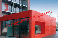 Excellent B1 grade exterior/outdoor wall cladding 4mm fireproof/noncombustible ACM ACP aluminium composite panel price