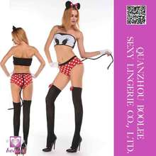 Latest popular hot sale sexy mouse girl cosplay costume women sexy halloween costumes animal costume adult