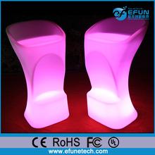 Iluminado rgb led light bar muebles, PE material de decoración moderna silla led