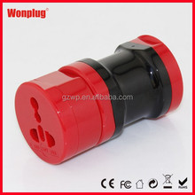 2014 Wonplug hot selling 3 in one travel adapter ce adapter plug