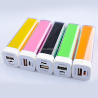 Colorful Mini lipstick shape Power Bank Key Chain USB 18650 Battery Charger
