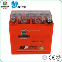 Motorcycle Parts 12V 9ah Sealed Gel Motorcycle Battery for Suzuki