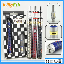 New starter kit 1.5ohm atomizer evod twist 3 m16 custom e cigarette hong kong for china wholesale