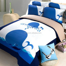 colourful underwater world sheets bedding for home use cartoon design bedding sets stock hot sale cotton printed bedding set