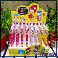 Wholesale ball pen factory promotional cute fruit girl stationery set for girls