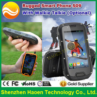 Military ALPS S09 IP68 Cheap NFC Rugged Mobile Phone 3G Celulare Android Quad core GPS Rugged Smart Phone With Walkie Talkie