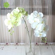Venta al por mayor maceta orquídeas wedding la puerta decoración de uso de seda de flores de orquídeas