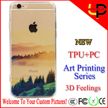 New art printing landscape silicone lighter phone case for iphone 6/6s