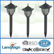 Eco-friendly Solar Electric Outdoor garden spike led light garden power Garden mosquito/fly trap/killer lamp pest control