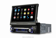 touch screen in dash wince 6.0 universal 7inch 1 din car dvd player gps with radio bluetooth